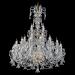 Lámparas de techo de cristal de roca checas